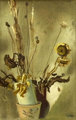 The Dried Sunflowers