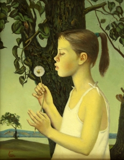 The Girl with a Dandelion